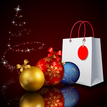 Christmas discounts. Christmas shopping. Holiday promotion. Vector