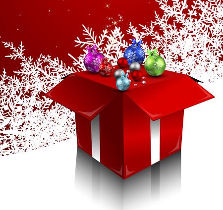 Christmas balls. Christmas gifts. Christmas Spirit. Vector