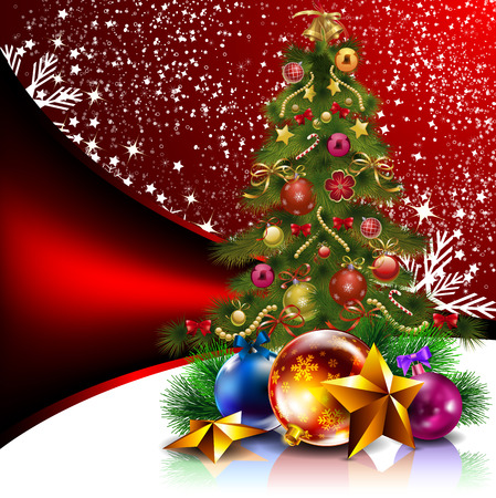 burning paper: Christmas Tree. Christmas tree in the new year. Abstract tree. Decorated Christmas tree. Illustration
