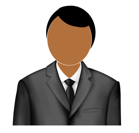 looking through an object: Logo admin. Icon administrator. illustration of a man in a jacket and shirt. Ties jacket and shirt.