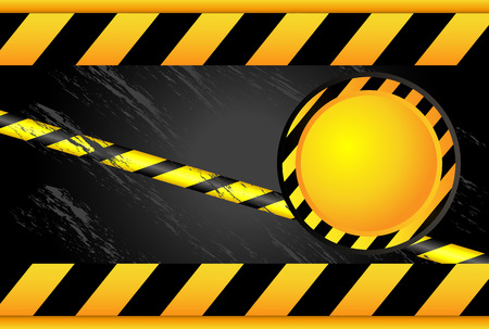 Yellow black ribbon. Forbidden Zone. Warning tapes. Beware radio chemical pollution. Illustration