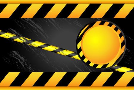 Negro de la cinta amarilla. Zona Prohibida. Advertencia cintas. Tenga cuidado con la contaminación química de radio. Ilustración de vector