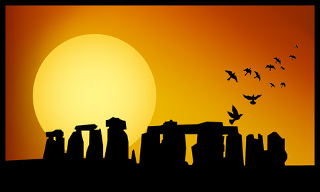 stonehenge: Stonehenge panorama.