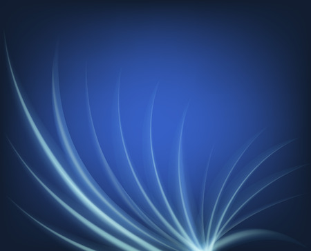 Blue lines. Spiral. Weyer. Bas-Rhin with lines. Neon line. Blue background. Vector