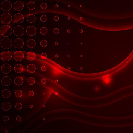 hosszú expozíció: Red absztrakt háttér. Háttér vonalak. Absztrakt háttér körök. Illusztráció