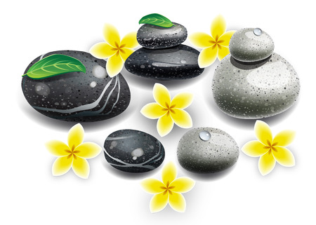 lastone: Spa. Decorative stones lifovani. Spa treatments. Flowers with stones.