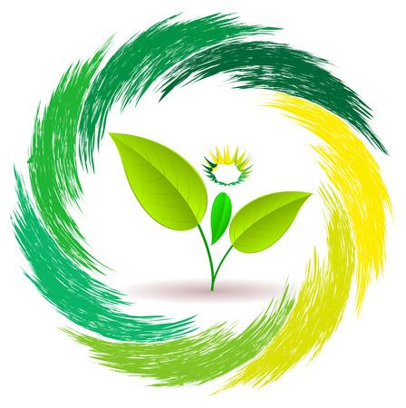 Man plant. Sign unity of man and nature. Nature and man. Vector