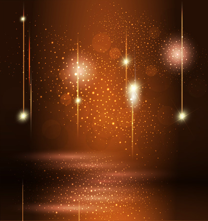 Glossy three-dimensional background. Brilliant background. Festive abstract background. Vector