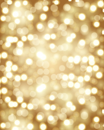 Golden bokeh. Golden background. Background with bubbles. Blurred background. Blurred background with blurred circles. Vector