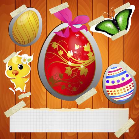 bright idea: Bright idea for Easter, vector art illustration.