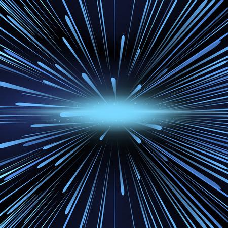 irradiate: Shining explosion, vector art illustration of cosmic explosion.