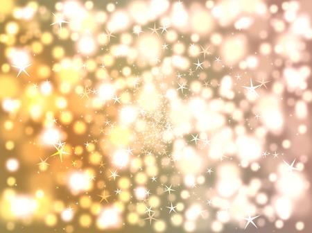 Blurring background of stars and bokeh, vector art illustration.