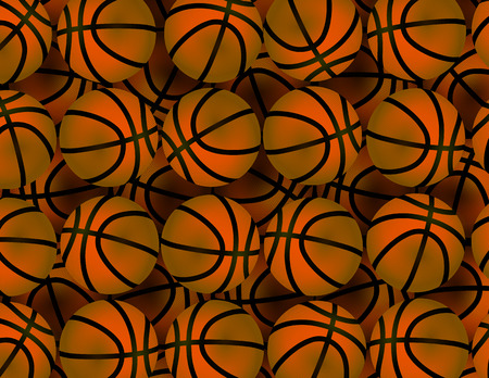 basketballs: Background with basketballs abstract vector art illustration. Illustration