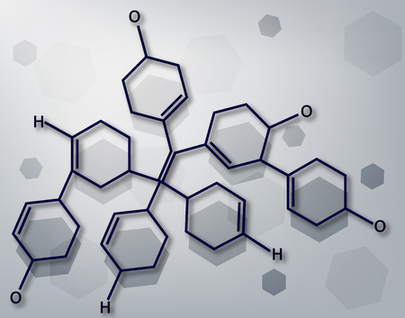 Background in the style of Chemistry vector art illustration life sciences.
