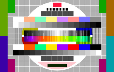 color separation: Technical issues on television vector art illustration of technical prevention on TV. Illustration