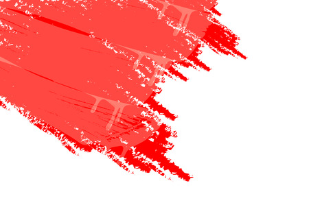 stroking: White background and red paint vector art illustration. Illustration