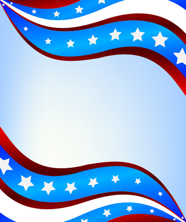 conservative: Abstract background of the American flag, vector art illustration flag.