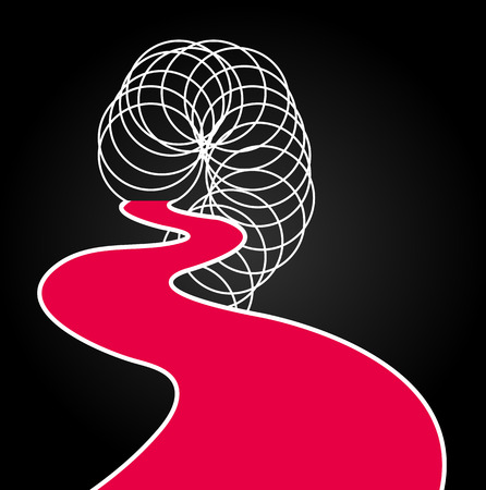 toenail: Abstract linear design background, vector art illustration.
