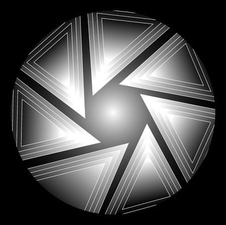lighting technique: Figure of triangles, vector art illustration photo.