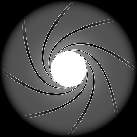 gun barrel: Background inside the barrel of a gun, vector art illustration. Illustration