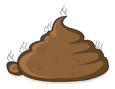 A pile of poop, vector art illustration faeces. Vettoriali