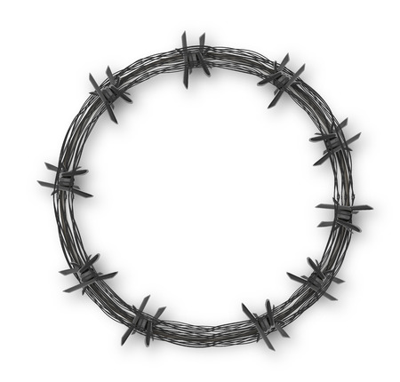 Crown with barbed wire, vector art illustration. Vettoriali