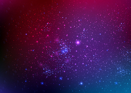 estrellas moradas: El fondo del cielo nocturno con las estrellas, ilustración de arte vectorial. Vectores