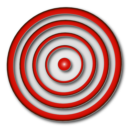 midsection: Red target, vector art illustration target for the arrows and darts.