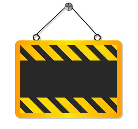 vector sign under construction: Theres a sign under construction, vector art illustration.