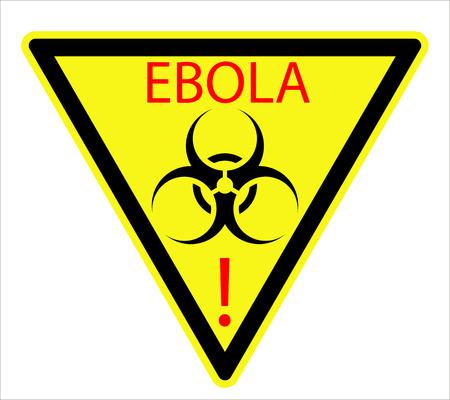 hazardous area sign: El signo biol�gico del virus �bola, ilustraci�n de arte vectorial. Vectores
