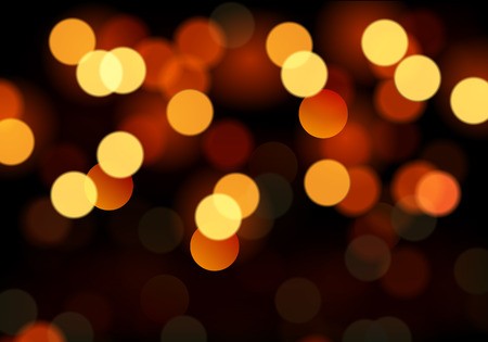 Christmas bokeh lights, vector art illustration for Christmas and New Year. Imagens - 46632913