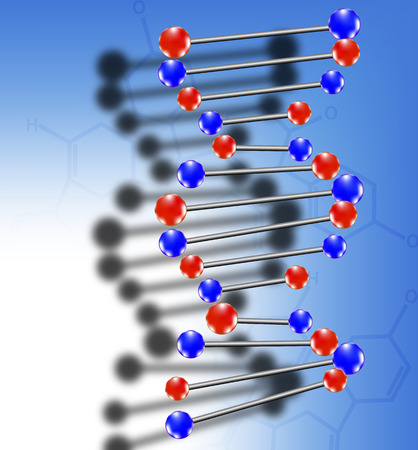 nucleic: DNA molecule, vector art illustration background in biology and medicine.