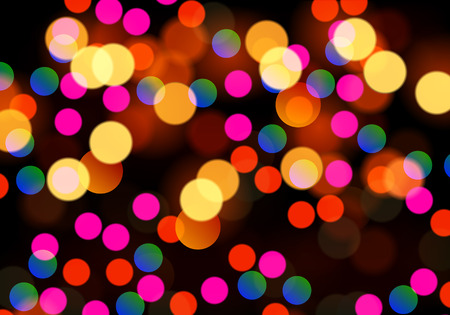 Festive bokeh background, vector art illustration highlights. Çizim
