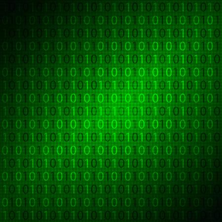 binaries: Digital matrix background, vector art illustration. Illustration