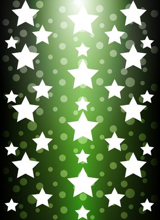trees photography: Green star background, vector art illustration celebration. Illustration