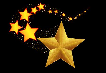 Abstract shooting star, vector illustration holiday art. Illustration