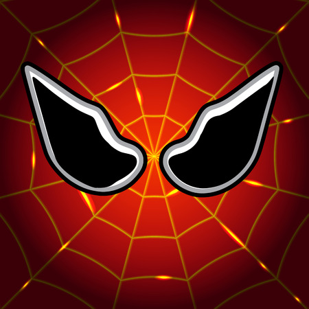 spiderman: Mask superhero Spider-Man, vector art illustration.