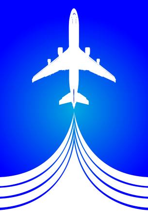 airplane mode: Illustration of air travel, art icon airplane.