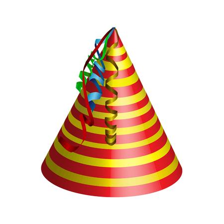 Hat to celebrate, vector art illustration cap.