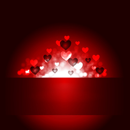 Happy Valentines Day, vector art illustration of love. Illustration