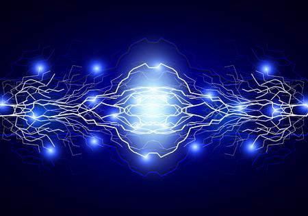 range of motion: The energy two lightning, vector art illustration. Illustration