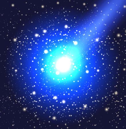偉大な彗星 - A、ベクトル アートのイラスト。