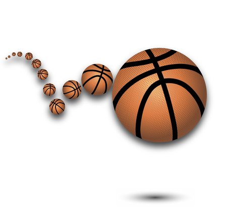bounce: Bounce a basketball, vector art illustration sport. Illustration