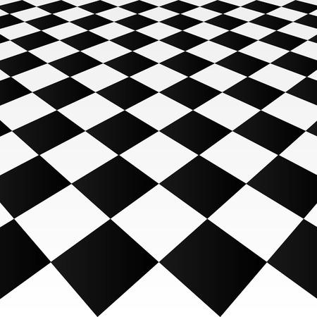 sidecar motocross racing: Abstract checkered background, art illustration tiles. Illustration