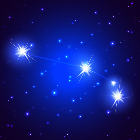 aries: Sideral constelaci�n de Aries, ilustraci�n del arte de un cielo estrellado.