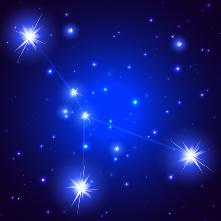 Constellation Cancer, art illustration of a starry sky.
