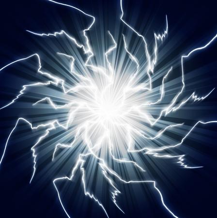 Background with ball lightning, art illustration.