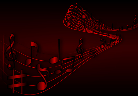 music notes vector: Background of music notes, vector art illustration.