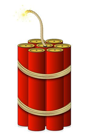 dinamita: Roto-aliento gran dinamita, ilustración de arte vectorial. Vectores