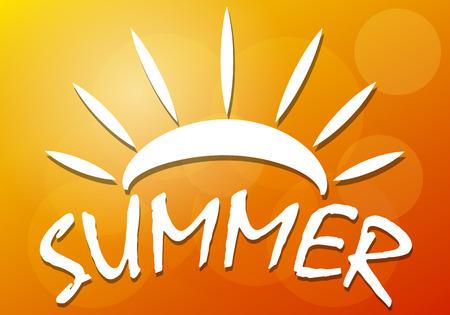 Background of the summer, vector art illustration.